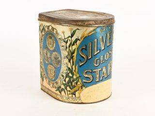SIlVER GlOSS STARCH 6 lBS  EMBOSSED TIN