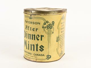 VINTAGE PATERSON AFTER DINNER MINTS 5 lBS  TIN