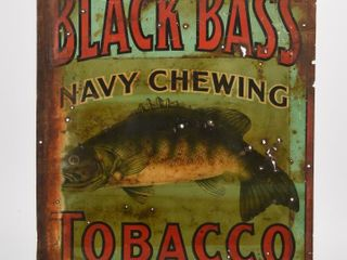 RARE BlACK BASS NAVY CHEWING TOBACCO SST SIGN