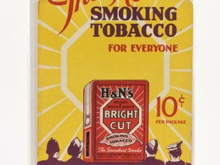 THE NEW H N SMOKING TOBACCO S S CARDBOARD POSTER