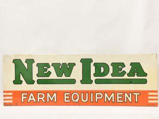 1953 NEW IDEA FARM EQUIPMENT S S METAl SIGN