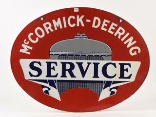 McCORMICK DEERING SERVICE DSP OVAl SIGN