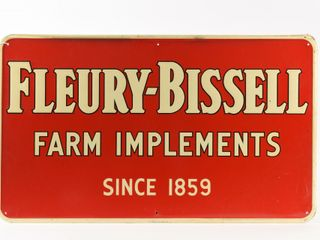 FlEURY BISSEll FARM IMPlEMENTS  1859  SST SIGN