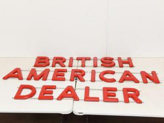 BRITISH AMERICAN DEAlER lETTER SIGN