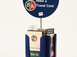 TOURGUIDE TRAVEl SERVICE ROTATING MAP HOlDER
