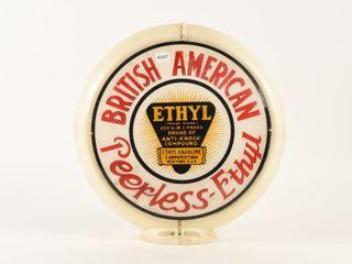 ORIGINAl BRITISH AMERICAN PEERlESS ETHYl GAS GlOBE