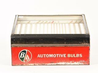 B A  GREEN RED  AUTOMOTIVE BUlBS CABINET