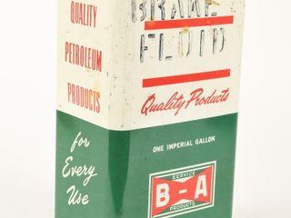 B A  BOWTIE  BRAKE FlUID IMPERIAl GAllON CAN