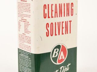 B A  GREEN RED  ClEANING SOlVENT IMPERIAl GAl  CAN