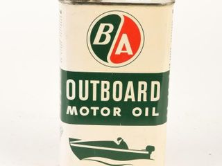 B A  GREEN RED  OUTBOARD MOTOR OIl IMP  QT  CAN