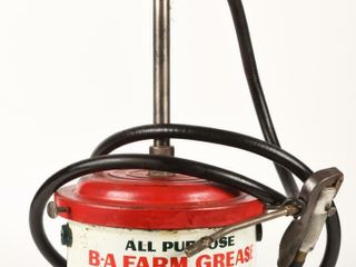 B A  GREEN RED  FARM GREASE 25 lBS  GREASER