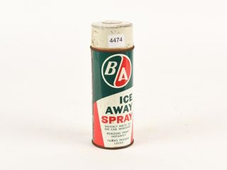 B A  GREEN RED  ICE AWAY SPRAY 14 OZS  CAN CONTENT