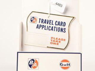 B A DARK BlUE ORANGE  GUlF TRAVEl CARD DISPlAY NOS