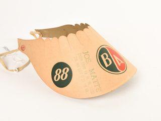 B A GREEN RED  88  98 CARDBOARD SUN VISOR HAT NOS