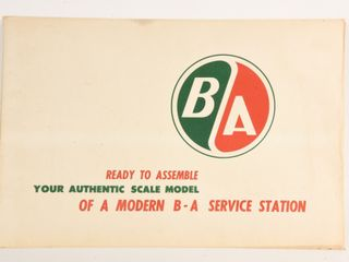 B A  GREEN RED  AUTHENTIC MODEl SERVICE STATION