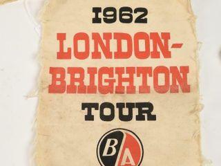 1962 B A lONDON   BRIGHTON TOUR GUIDE APRON