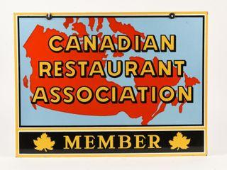 CANADIAN RESTAURANT ASSOCIATION MEMBER DSP SIGN