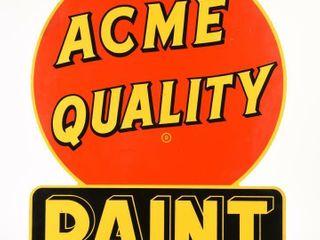 ACME QUAlITY PAINT AUTHORIZED DEAlER DSP SIGN