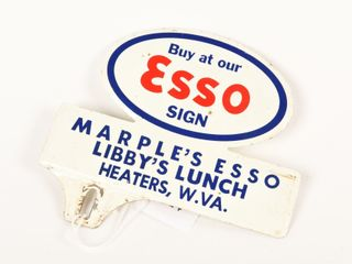 BUY AT ESSO SIGN lICENSE PlATE TOPPER