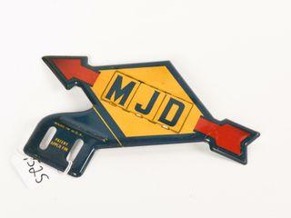 MJD ARROW lICENSE PlATE S S TOPPER   SUNOCO COlORS