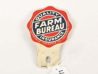 QUAlITY FARM BUREAU INSURANCE lICENSE PlATE TOPPER