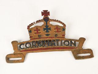 CORONATION lICENSE PlATE EMBOSSED TOPPER