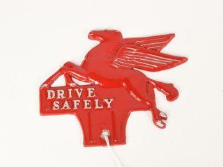 DRIVE SAFElY PEGASUS lICENSE PlATE TOPPER  REPAINT