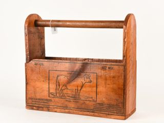 VINTAGE COW BRAND WOOD BOX ENDS