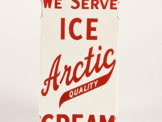 WE SERVE ICE CREAM ARCTIC QUAlITY DOOR PUSH