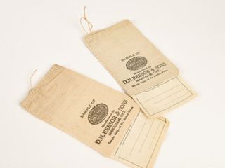 CANADIAN MARMIll BRAND SAMPlE CANVAS BAGS  TAGS