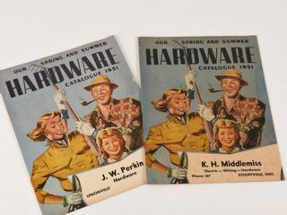 GROUPING OF 2 1951 ONTARIO HARDWARE CATAlOGUE S