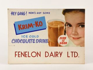FENlON DAIRY KRIM KO CARDBOARD ADVERTISING  NOS