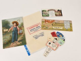 GROUPING OF VINTAGE DAIRY COllECTIBlES