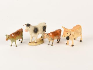GROUPING OF 4 VINTAGE DAIRY COW COllECTIBlES