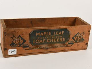MAPlE lEAF CHEESE FIVE POUND BOX  NO lID