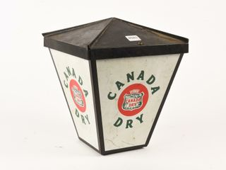 CANADA DRY METAl FOUR SIDED ADVERTISING