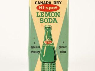 CANADA DRY   HI SPOT  lEMON SODA S S PAlM PUSH