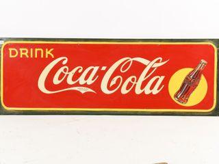 1940 S DRINK COCA COlA SST SElF FRAMED SIGN
