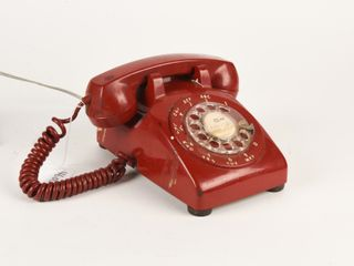 RARE  RED  NORTHERN ElECTRIC DESK TElEPHONE