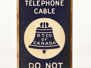 B T  CANADA UNDERGROUND TElEPHONE CABlE SSP SIGN