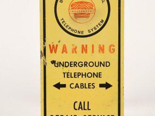 BlANSHARD TElEPHONE UNDERGROUND CABlE S S SIGN