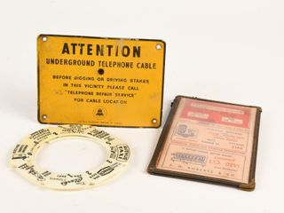 GROUPING OF 4 TElEPHONE COllECTIBlES