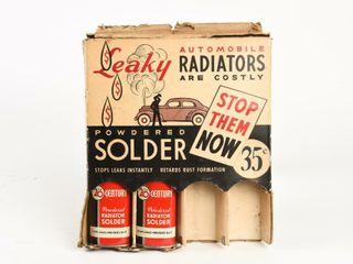 1930 S 40 S RADIATOR SOlDER ADV COUNTER DISPlAY