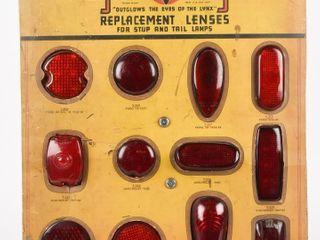 1940 S lYNX EYE GlASS TAIllIGHTS CARDBOARD DISPlAY