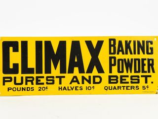 ClIMAX BAKING POWDER BEST SST EMBOSSED SIGN