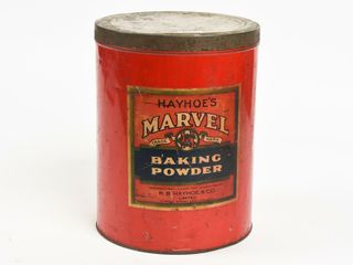 HAYHOE S MARVEl BAKING POWDER CANISTER