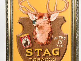 STAG TOBACCO EVER lASTING lY GOOD CARDBOARD ADV