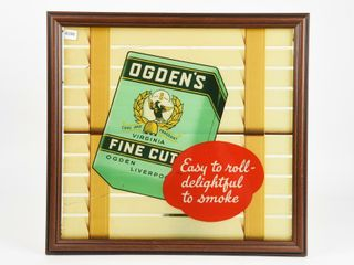 OGDEN S FINE CUT TOBACCO S S DECAl ON GlASS ADV