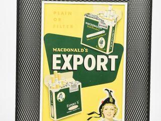 MACDONAlD S EXPORT PlAIN OR FIlTER CARDOARD SIGN