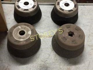 4 New Steel Cup Grinding Wheels